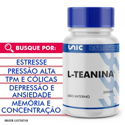 L-teanina 200mg - 90 Cápsulas
