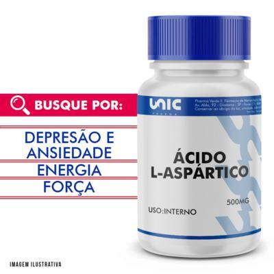 Ácido L-aspártico 500mg - 120 Cápsulas