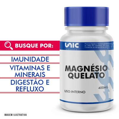 Imagem 1 do produto Magnésio quelato 400mg - 120 Cápsulas