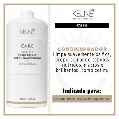 Imagem 3 do produto Keune Care Satin Oil Condicionador Tamanho Professional - 1L