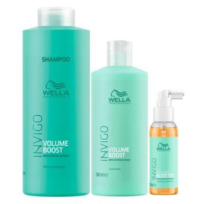 Wella Professionals Volume Booster Kit - Shampoo + Máscara + Sérum - Kit