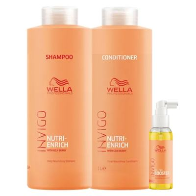 Wella Professionals Invigo Nutri-Enrich Kit - Shampoo + Condicionador + Sérum - Kit
