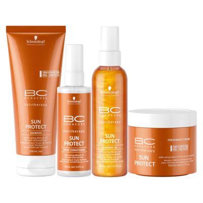 Imagem 1 do produto Schwarzkopf Professional BC Bonacure Sun Protect  Kit - Shampoo + Óleo + Máscara + Spray - Kit