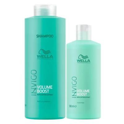 Imagem 1 do produto Wella Professionals Volume Booster Kit - Shampoo + Máscara Capilar - Kit