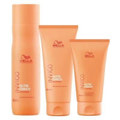 Imagem 1 do produto Wella Professionals Invigo Nutri-Enrich Kit - Shampoo + Condicionador + Creme - Kit