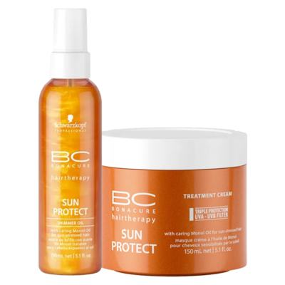 Imagem 1 do produto Schwarzkopf Professional BC Bonacure Sun Protect  Kit - Óleo + Máscara - Kit