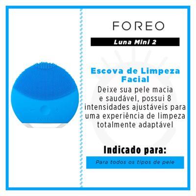 Imagem 4 do produto Luna Mini 2 Aquamarine Foreo - Escova de Limpeza Facial - 125Hz