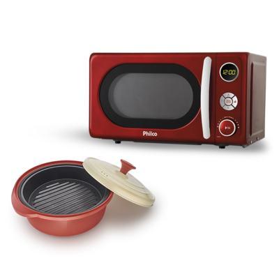 Micro-Ondas Retrô Philco Premium + Incredible Cook - | 127V