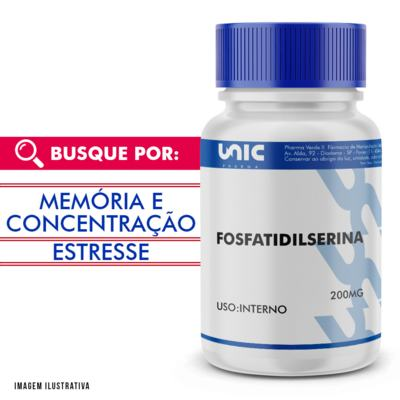 Fosfatidilserina 200mg - 120 Cápsulas