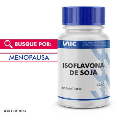 Isoflavona de soja 80mg - 90 Cápsulas