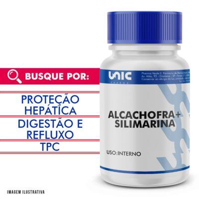 Protetor hepático natural - Alcachofra 300mg + Silimarina 50mg - 120 Cápsulas