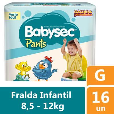 Imagem 1 do produto Fralda Babysec Pants Galinha Pintadinha G 16 unidades