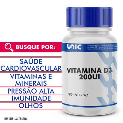 Vitamina D3 5mcg (200UI) - 90 Cápsulas