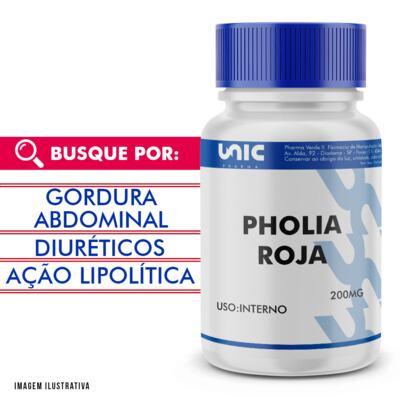 Imagem 1 do produto Pholia roja 200mg com selo de autenticidade - 120 Cápsulas