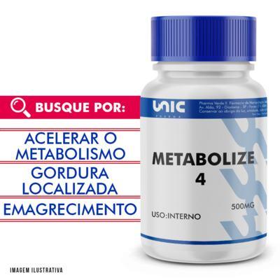 Metabolize 4 500mg com selo de autenticidade - 120 Cápsulas