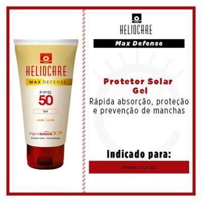 Imagem 4 do produto Heliocare Max Defense Gel FPS 50 Heliocare - Protetor Solar - Translucido