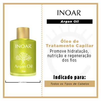 Imagem 3 do produto Inoar Argan Oil - Óleo de Tratamento Capilar - 12x 7ml
