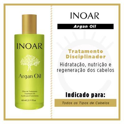 Imagem 4 do produto Inoar Óleo de Tratamento Argan Oil - Tratamento Disciplinador - 60ml