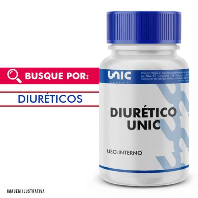 """Imagem 1 do produto Uva Ursi - Chá Verde - Cavalinha """"Diurético Unic"""" - 120 Cápsulas"""