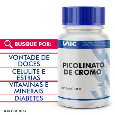 Picolinato de Cromo 100mcg - 90 Cápsulas