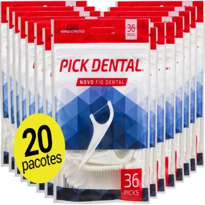Imagem 1 do produto 20 Fio Dental Pick Floss com Haste Palito Cabo kids Fita oralb ( 720 unid ) -