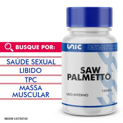 Imagem 1 do produto Saw palmetto 160mg - 90 Cápsulas