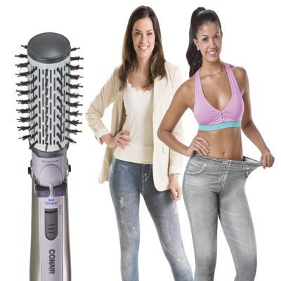 Imagem 1 do produto Escova Rotating Air Brush Titanium Conair + 2 Calças Modeladoras Lejeans - | 127v + lejeans azul despojado + cinza