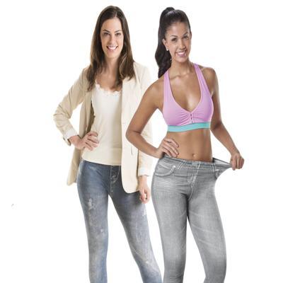 Calça Modeladora Lejeans - 2 Unidades - | CInza + Azul Despojada