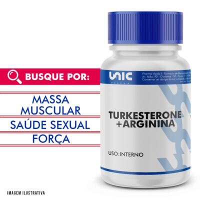 Imagem 1 do produto Turkesterone 500mg + Arginina 150mg - 120 Cápsulas