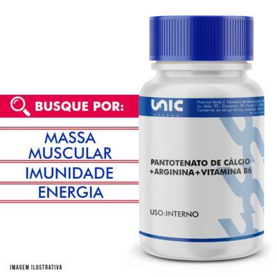 Arginina + pantotenato de cálcio  + Vitamina B6 - 90 Cápsulas