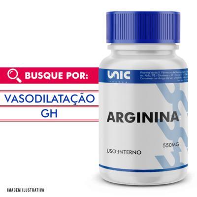 Arginina 550mg - 60 Cápsulas