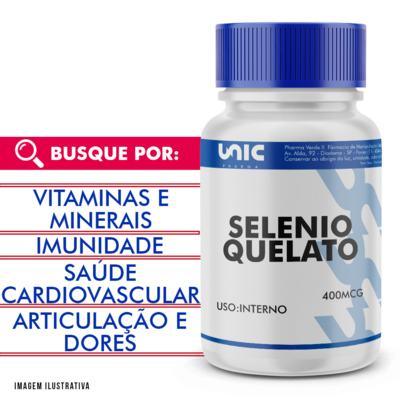 Selenio quelato 400mcg - 60 Cápsulas