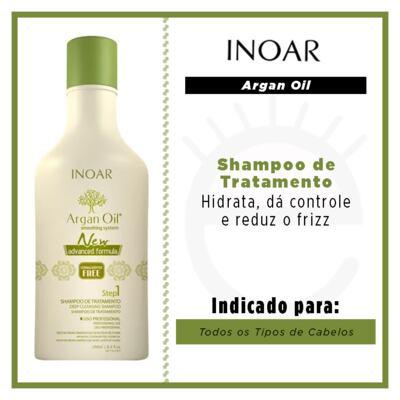 Imagem 2 do produto Inoar Argan Oil System New Advanced Formula - Shampoo de Tratamento Copy - 250ml Copy