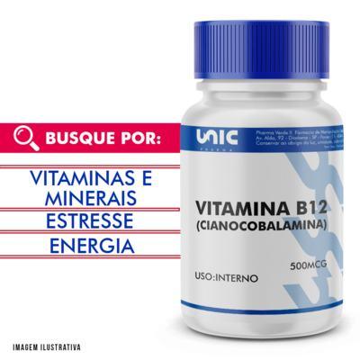 Vitamina b12 (cianocobalamina) 500mcg - 120 Cápsulas