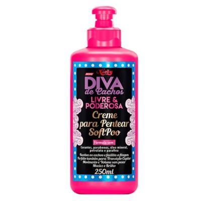 Imagem 4 do produto Diva de Cachos Soft Poo Niely - Shampoo + Condicionador + Creme para Pentear - Kit