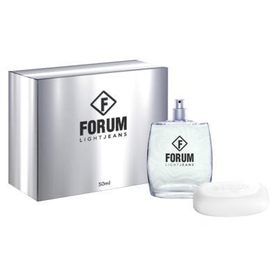 Imagem 1 do produto Forum Light Jeans Kit - Eau de Toilette + Sabonete - Kit