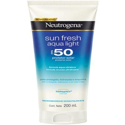 Protetor Solar Neutrogena Sun Fresh Aqua Light FPS 50