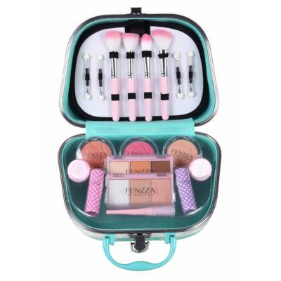 Imagem 2 do produto Maleta de Maquiagem Pequena Fenzza - Pin Up Lettre Collection Verde - Maleta de Maquiagem