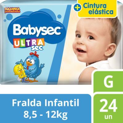 Imagem 2 do produto Fralda Babysec Galinha Pintadinha Ultrasec Jumbo G 24 unidades