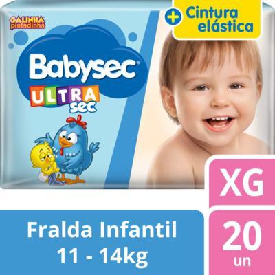 Imagem 2 do produto Fralda Babysec Galinha Pintadinha Ultrasec Jumbo XG 20 unidades