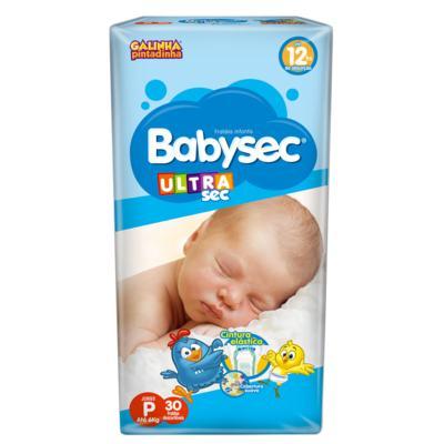 Imagem 1 do produto Fralda Babysec Galinha Pintadinha Ultrasec Jumbo P 30 unidades