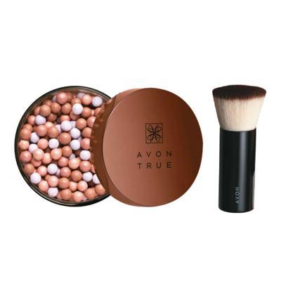 Imagem 1 do produto Kit Pérolas de Efeito Bronzeador Bronze Natural + Pincel Blush