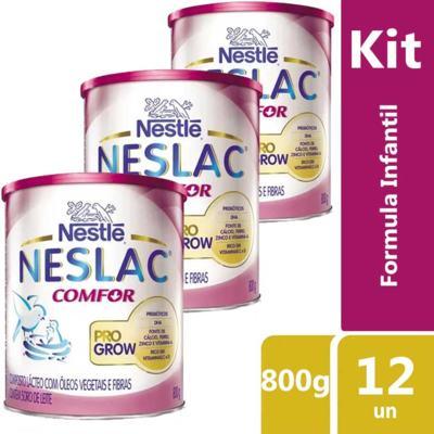 Imagem 2 do produto Kit Neslac Comfor 800g 12 unidades