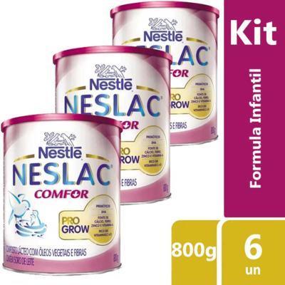 Imagem 2 do produto Kit Neslac Comfor 800g 6 unidades