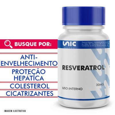 Resveratrol 30mg - 90 Cápsulas