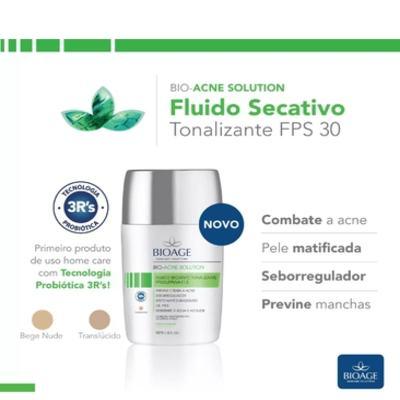 Imagem 2 do produto Fluido Secativo Tonalizante Bioage Bio Acne Solution FPS 30