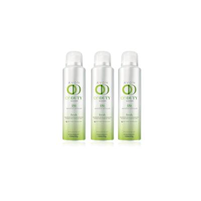 Kit Desodorante Aerosol On Duty Fresh 48h Feminino 150ml - 3 Unidades