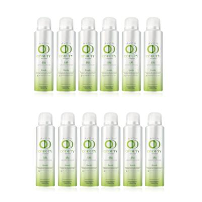 Kit Desodorante Aerosol On Duty Fresh 48h Feminino 150ml - 12 Unidades