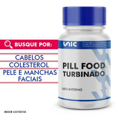 Pill food turbinado - 120 Cápsulas