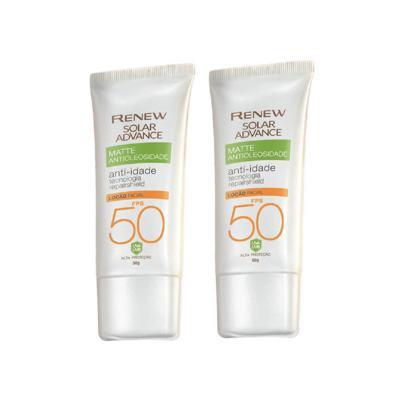 Kit Protetor Solar Facial Renew Advance Matte Anti-Idade FPS 50 - 50g